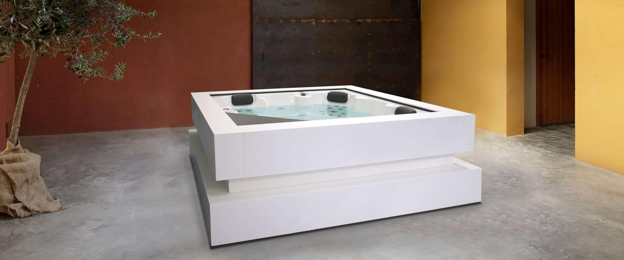 Buy the exclusive hot tub Cube Ergo - Aquavia Spa UK